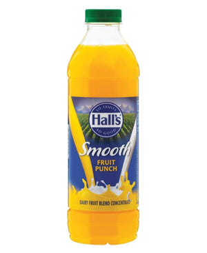 Halls Smooth 1L Fruit Punch  - Yellow