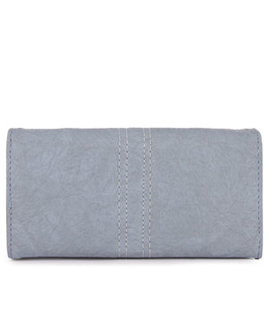 Fold Over Wallet - Blue