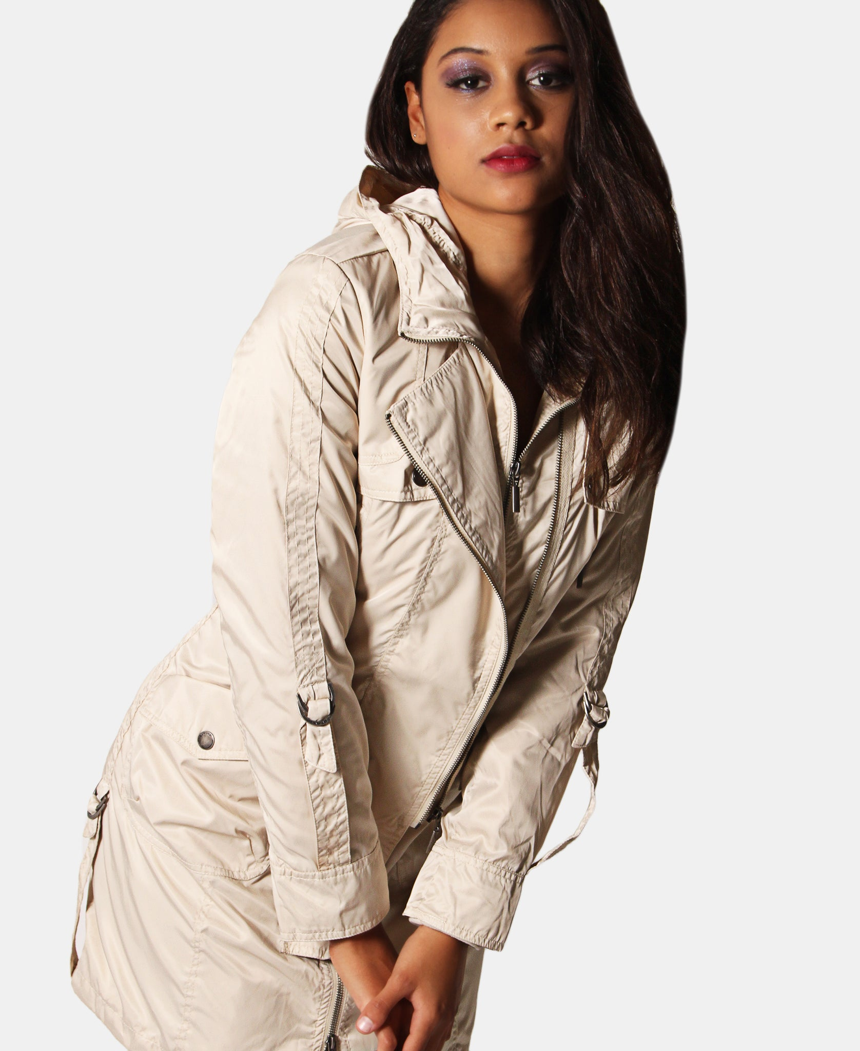 2 Piece Cargo Jacket - Beige