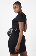 Ladies' Slim Tee Dress - Black - planet54.com
