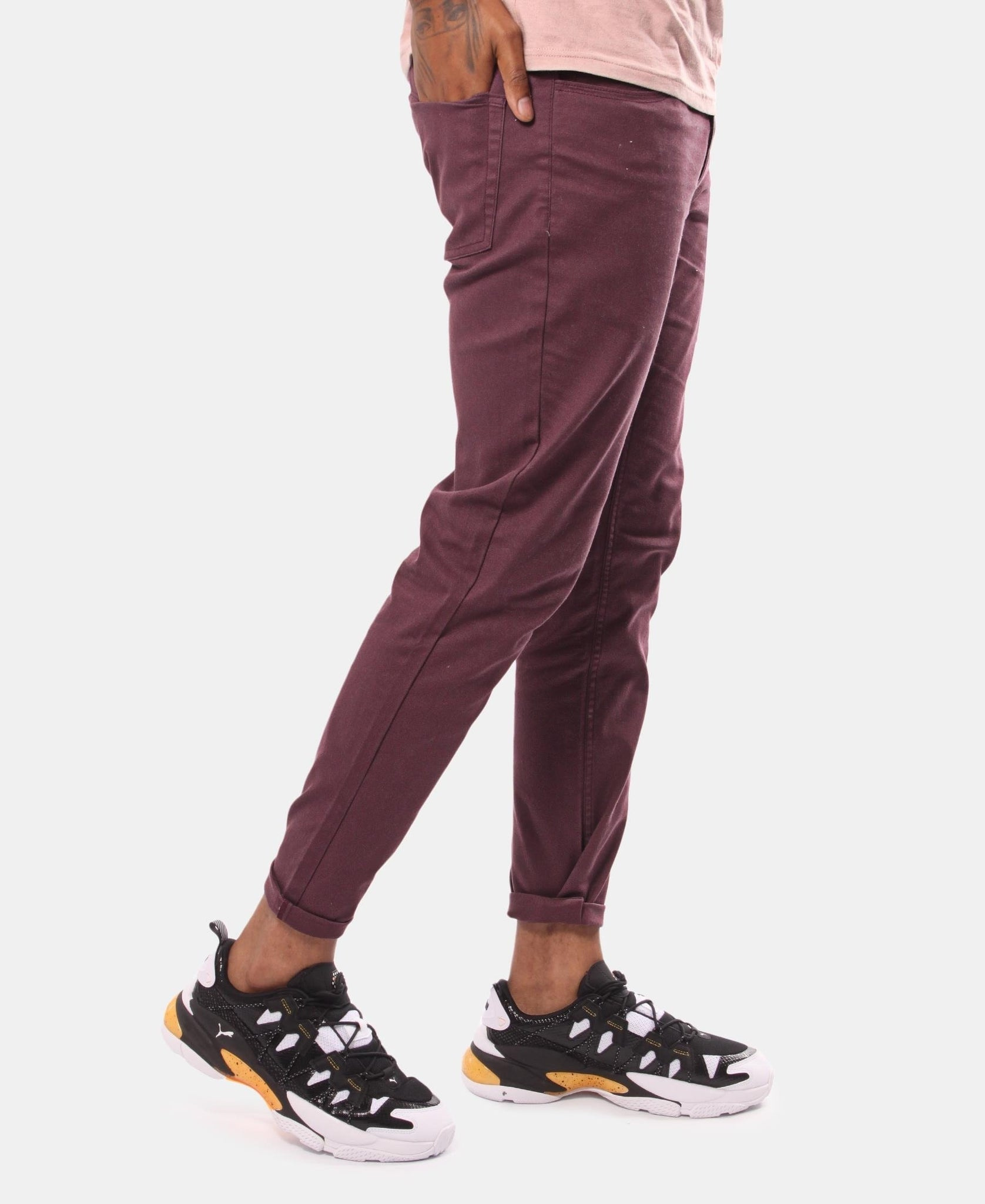 Men's Casual Pants - Maroon