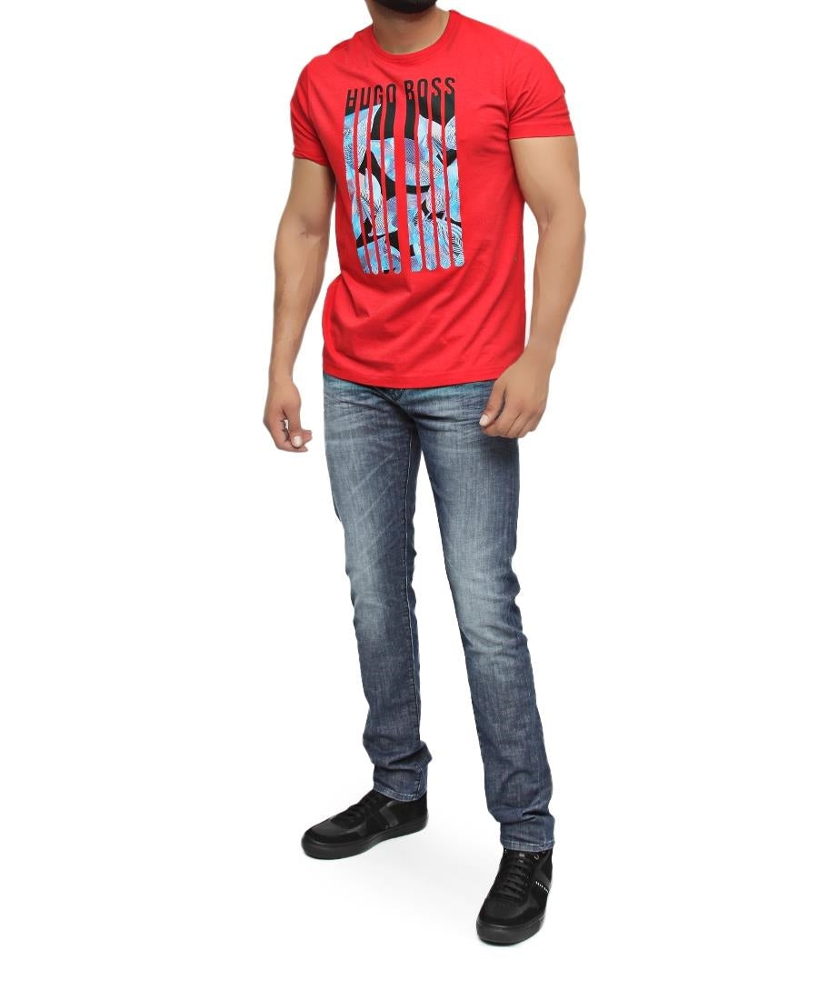 Regular Fit Hugo Boss T-Shirt - Red