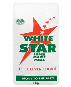 White Star Maize Meal 1Kg - White