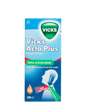 Vicks Acta-Plus Cough Syrup 100ml - Blue