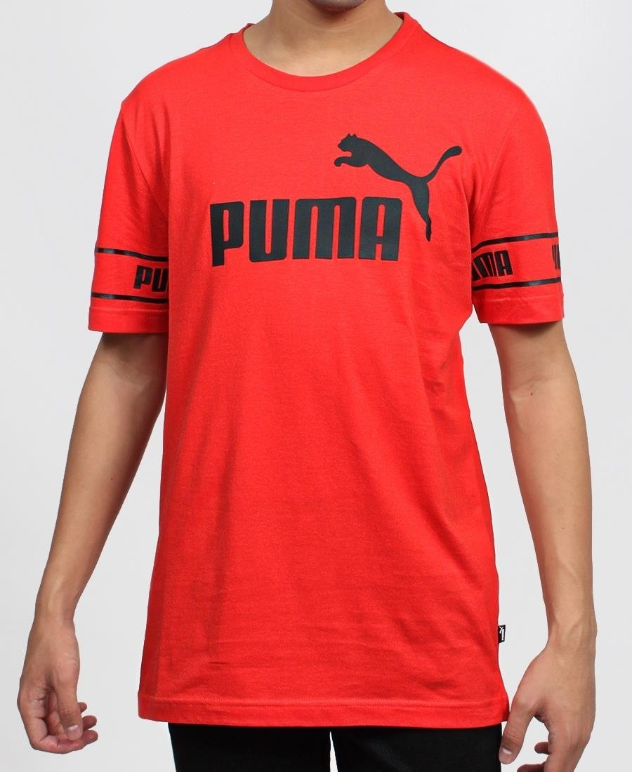 Puma Amplified Logo Tee - Red