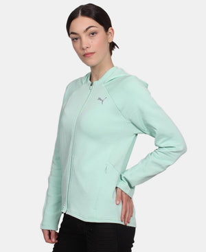 Ladies' Puma Evostripe Hoody - Green