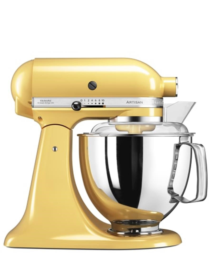 KitchenAid 4.8L Stand Mixer + Stove Top Kettle - Majestic Yellow