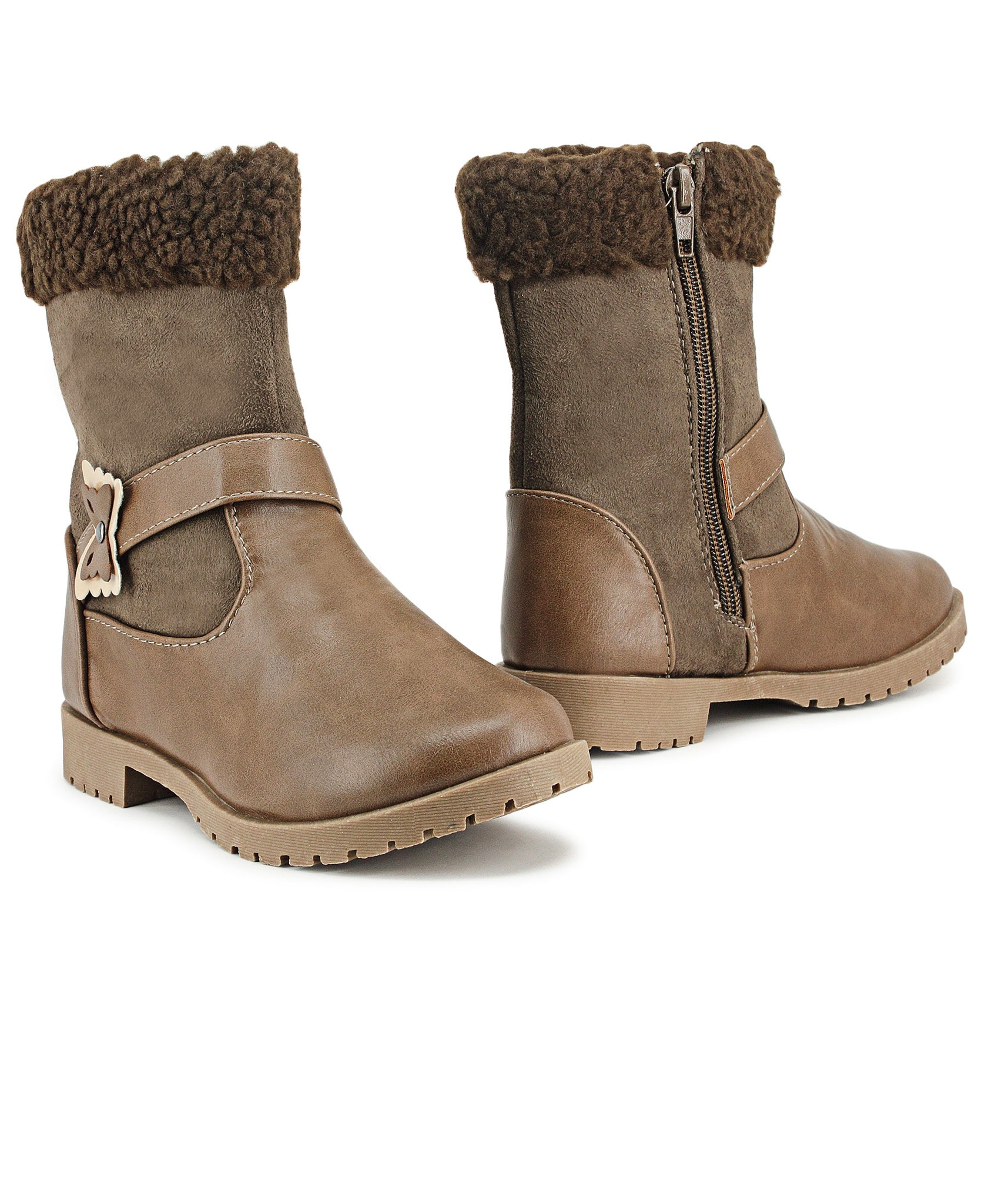 Girls Boots - Taupe