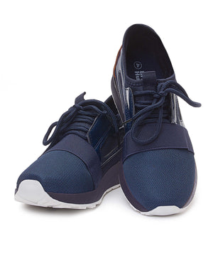 Ladies' Detailed Sneakers - Navy