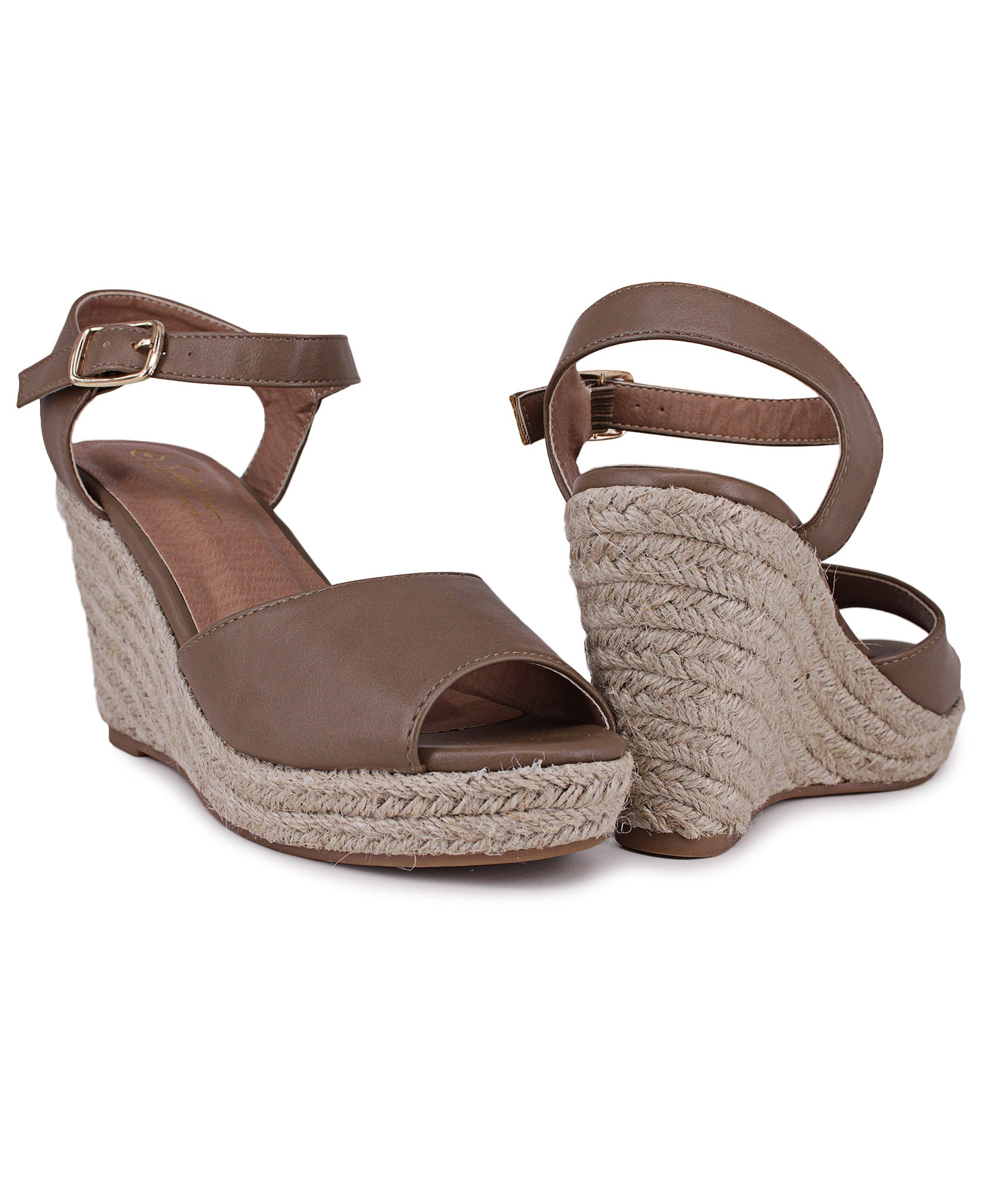Espadrille Wedge - Taupe