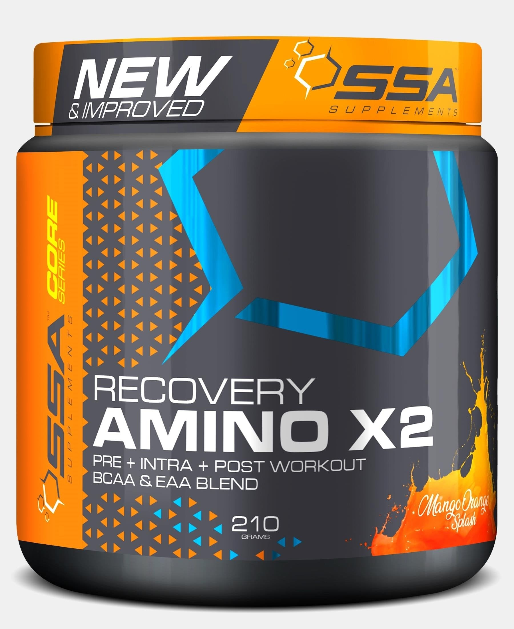 210G Amino-X Mango Orange Splash - Black