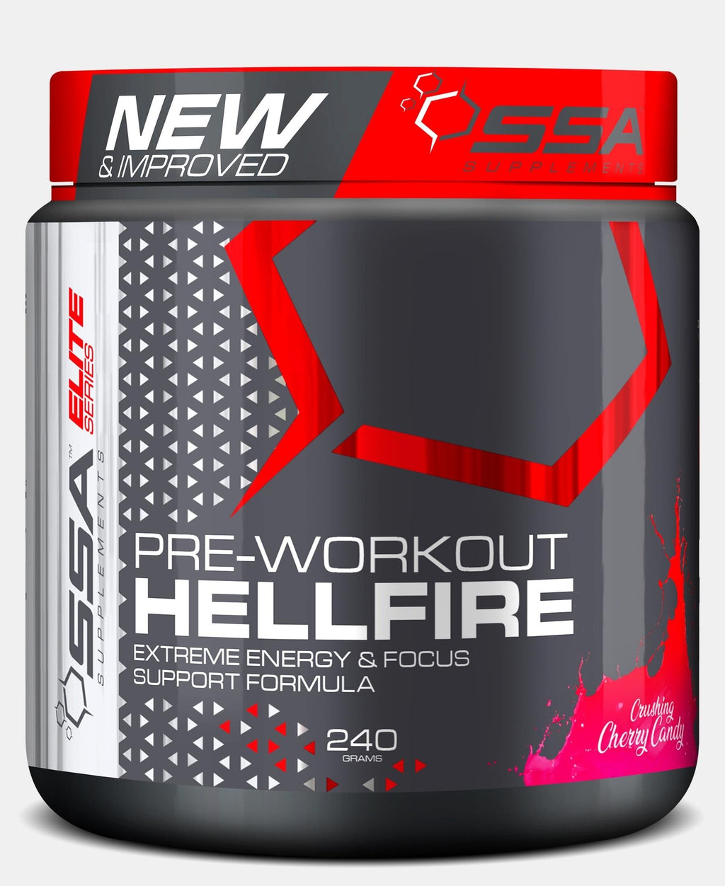 240G Hellfire Crushing Cherry Candy - Black