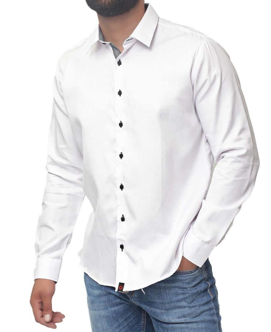 Modern Fit Shirt - White-Black