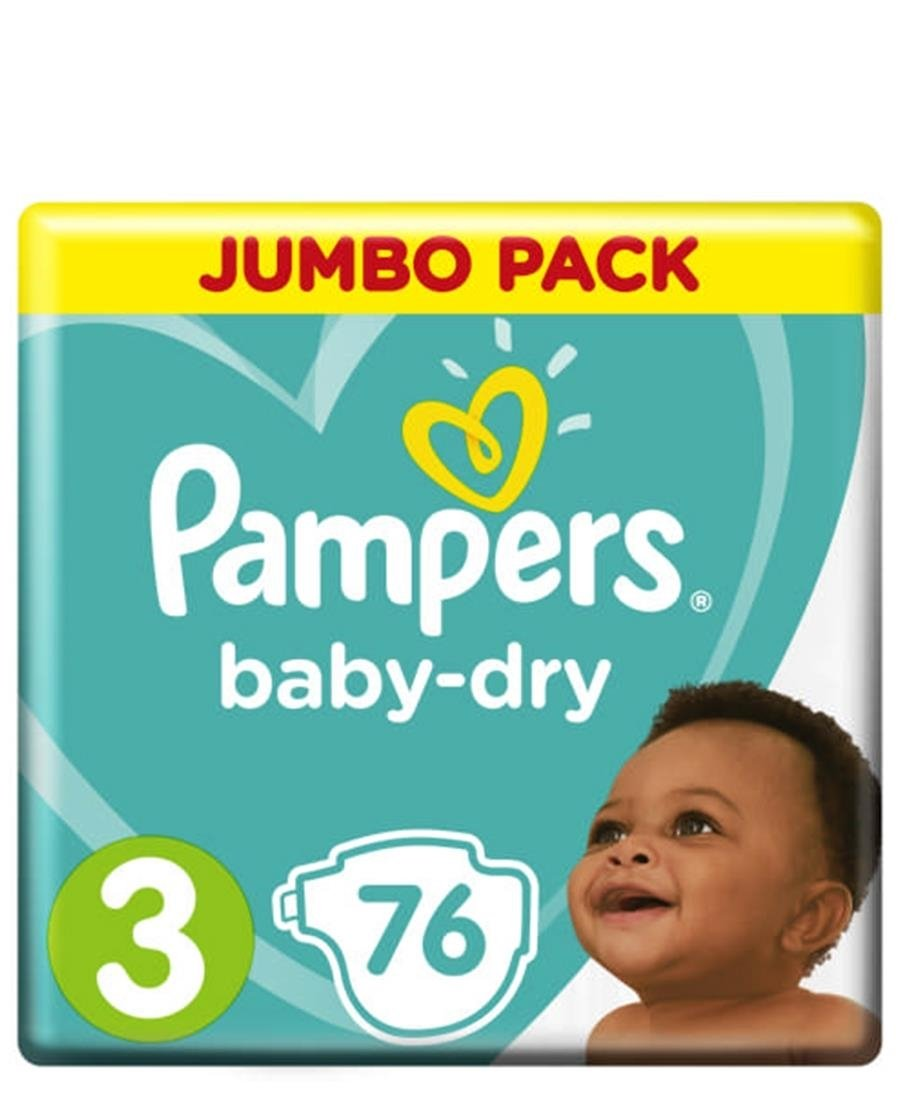 Pampers Jumbo pack 76s  Size 3 - Blue