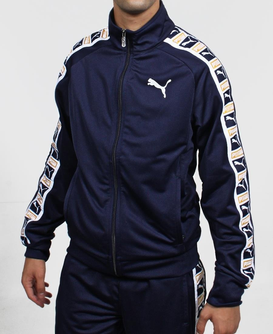 Puma Tape Poly Track Jacket - Navy