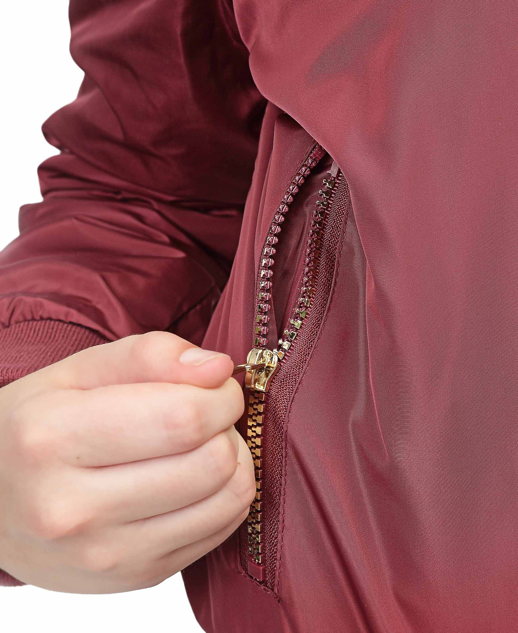 Brooklyn Bomber Jacket - Burgundy