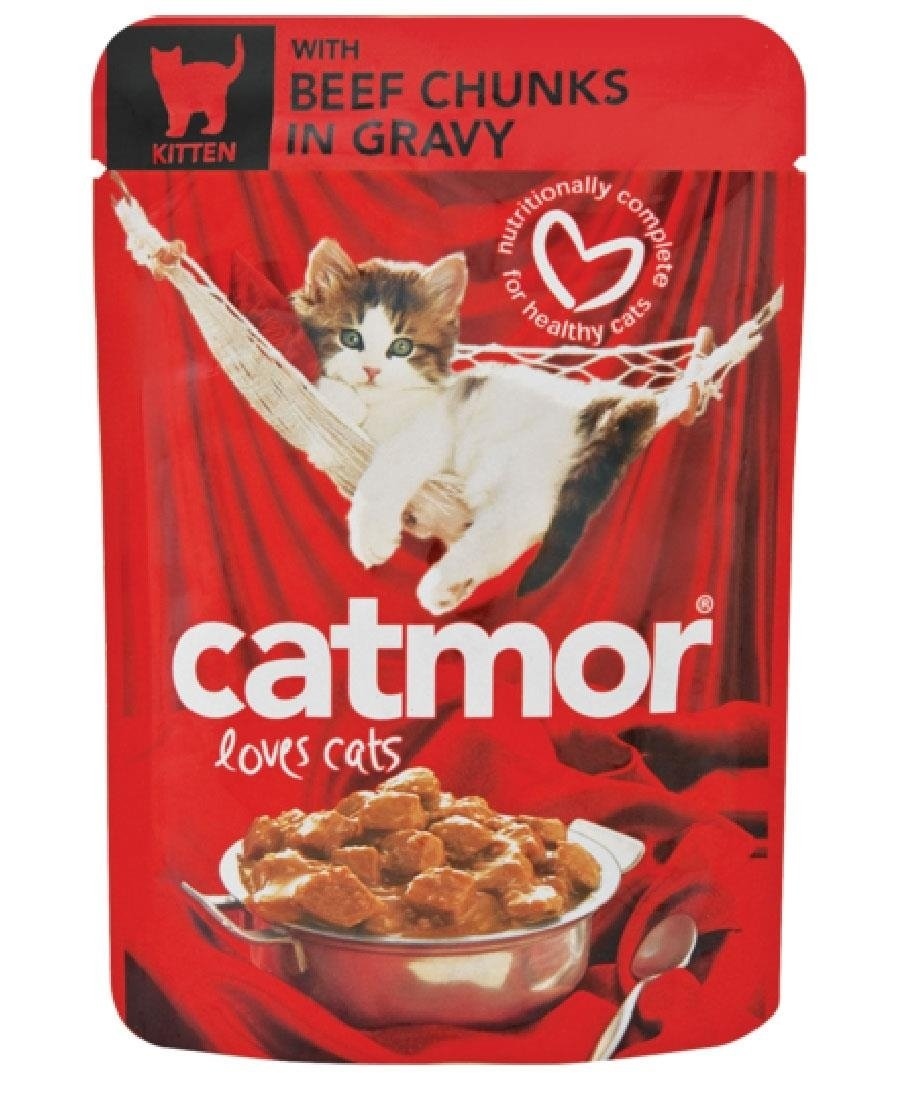 Catmor Pouch Beef Gravy 85g - Red