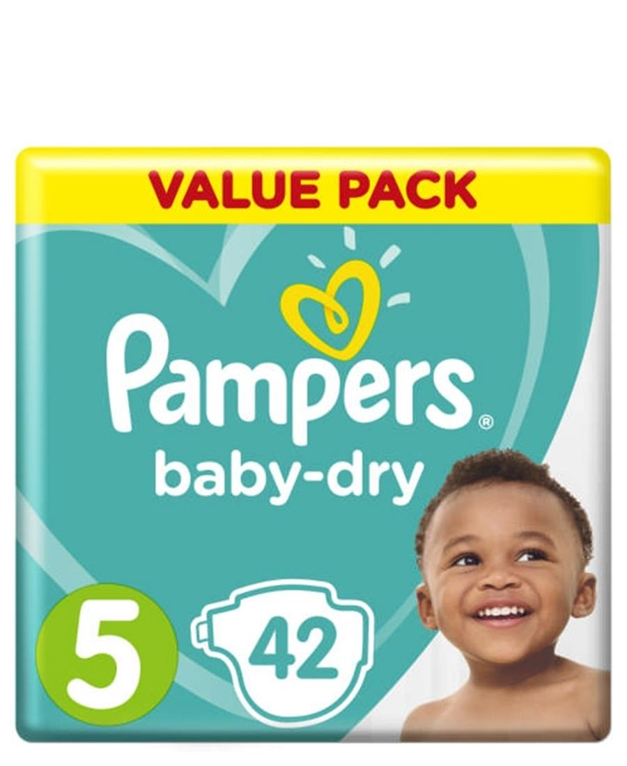 Pampers Value 42 Pack Size 5 - Green