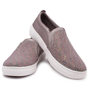 Ladies' Goldie-Diamond Sneakers - Rose Gold