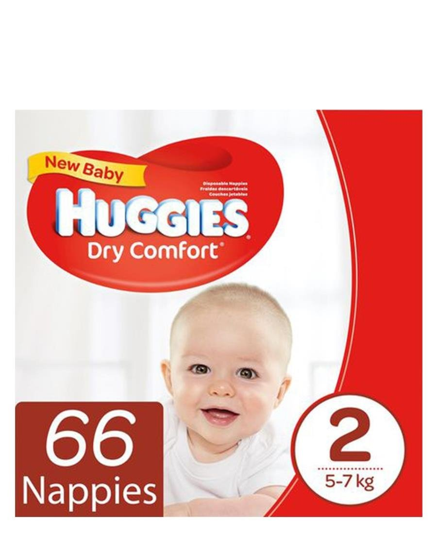 66 Dry Comfort Nappies 2 - Red