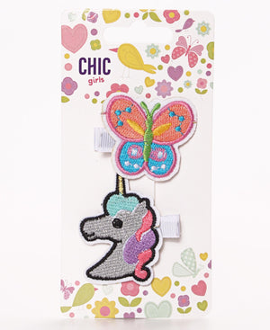 Girls Hair Clips - Multi