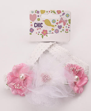 Girls Headband - White