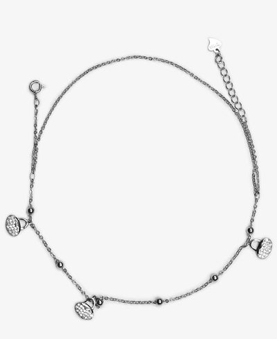 Sterling Silver Arya Ankle Chain - Silver