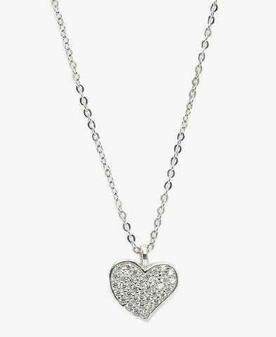 Sterling Silver Love You Necklace - Silver