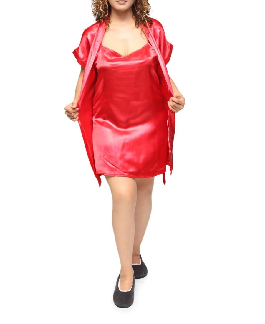 Chemise & Gown Set - Red