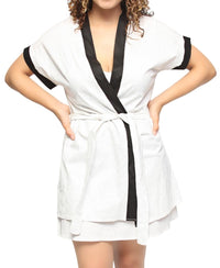 Chemise & Gown Set - White