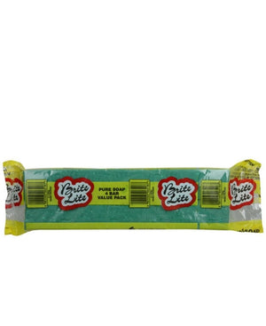 Brite Lite Green Bar Wrapped Soap 4 X 500g Value Pack - Yellow