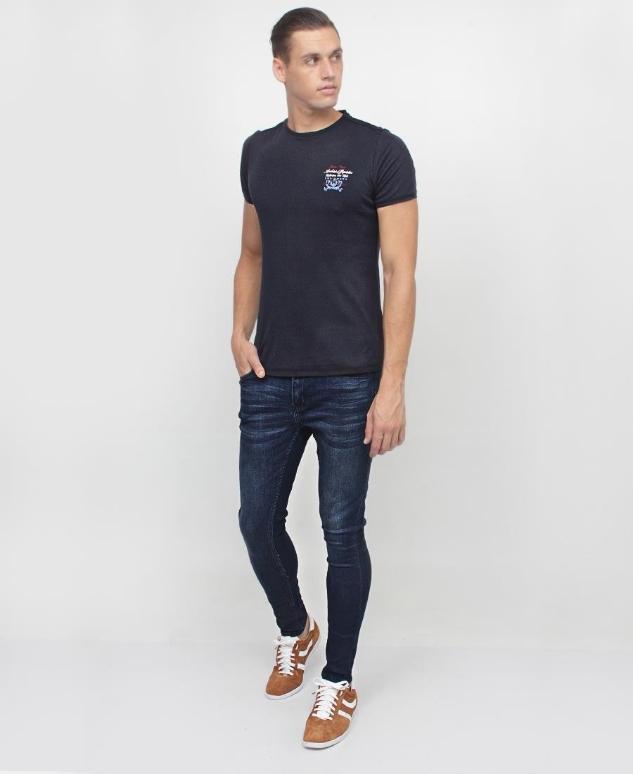 Men's Printed T-Shirt - Navy