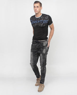 Men's Printed T-Shirt - Black