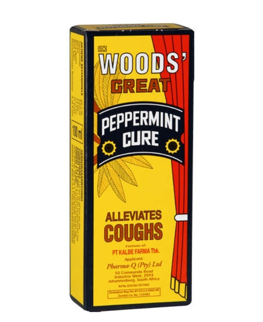 Woods Cough Syrup Peppermint 100ml - Yellow