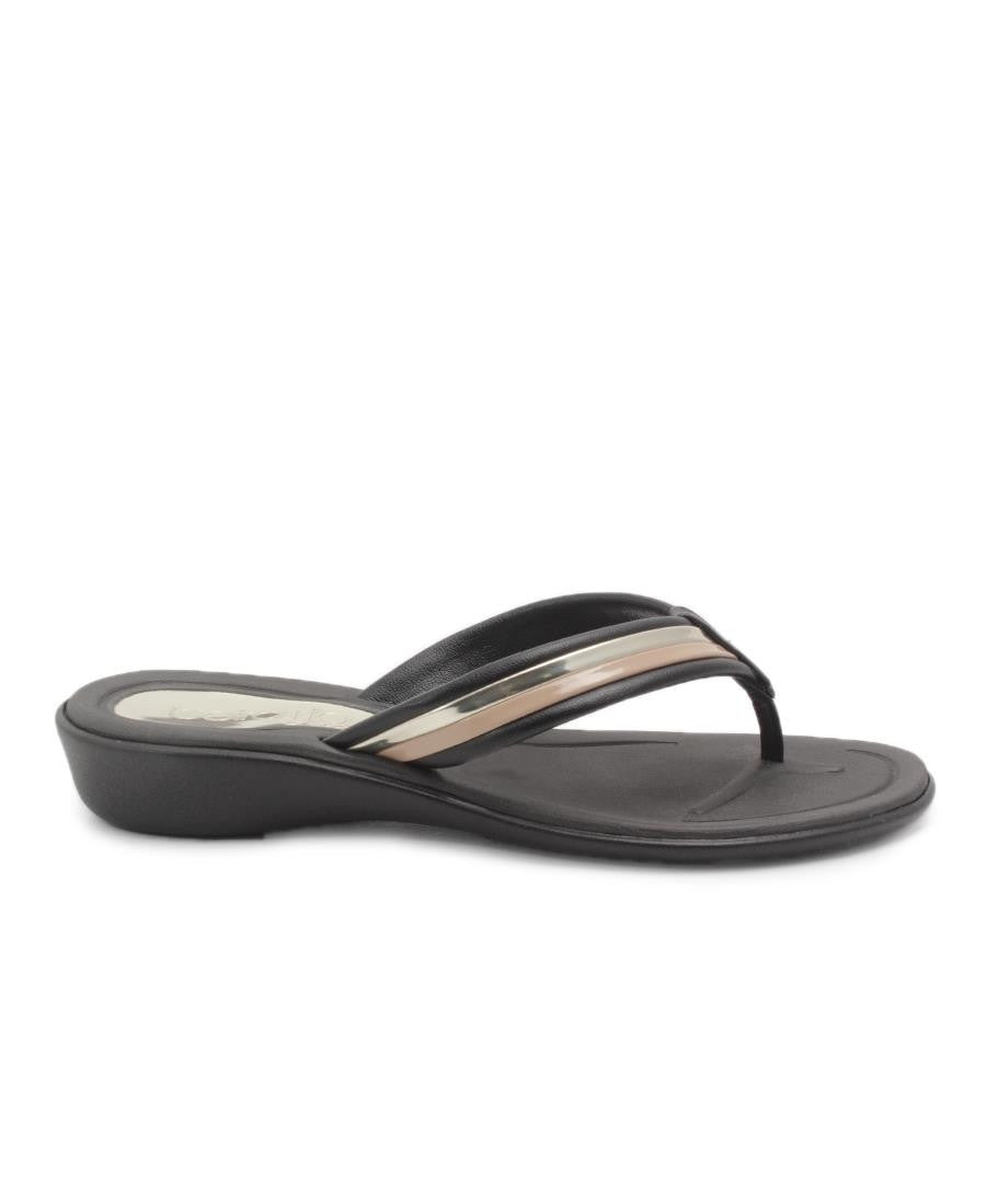 Flat Slip On  - Black