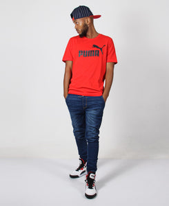 Men's Puma ESS Logo Tee - Red
