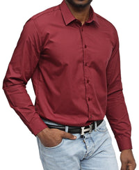 Slim Fit Shirt - Burgundy