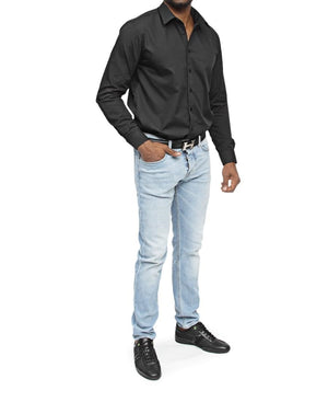 Slim Fit Shirt - Black - planet54.com