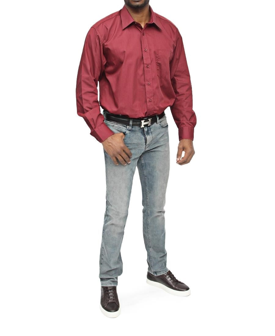 Modern Fit Shirt - Burgundy
