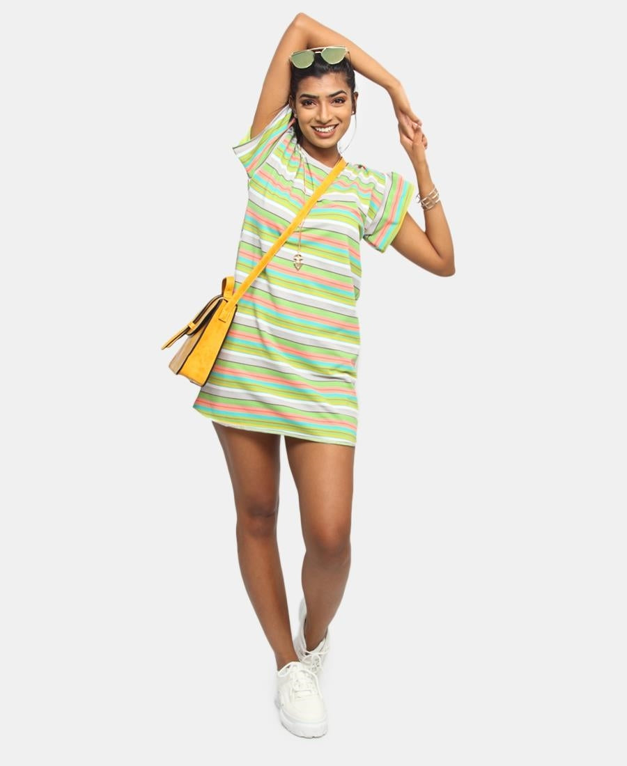 Summer Needle Out Shift Dress - Multi