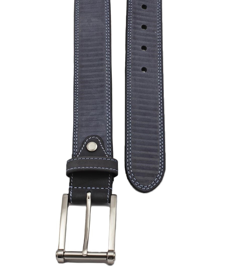 Smart Leather Belt - Navy