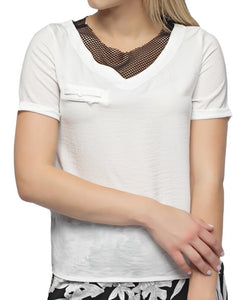 V-Neck Top - White