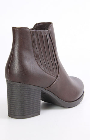 Ladies' Ankle Boot - Brown - planet54.com