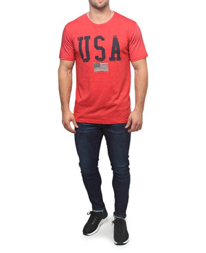 Crew Neck T-Shirt - Red