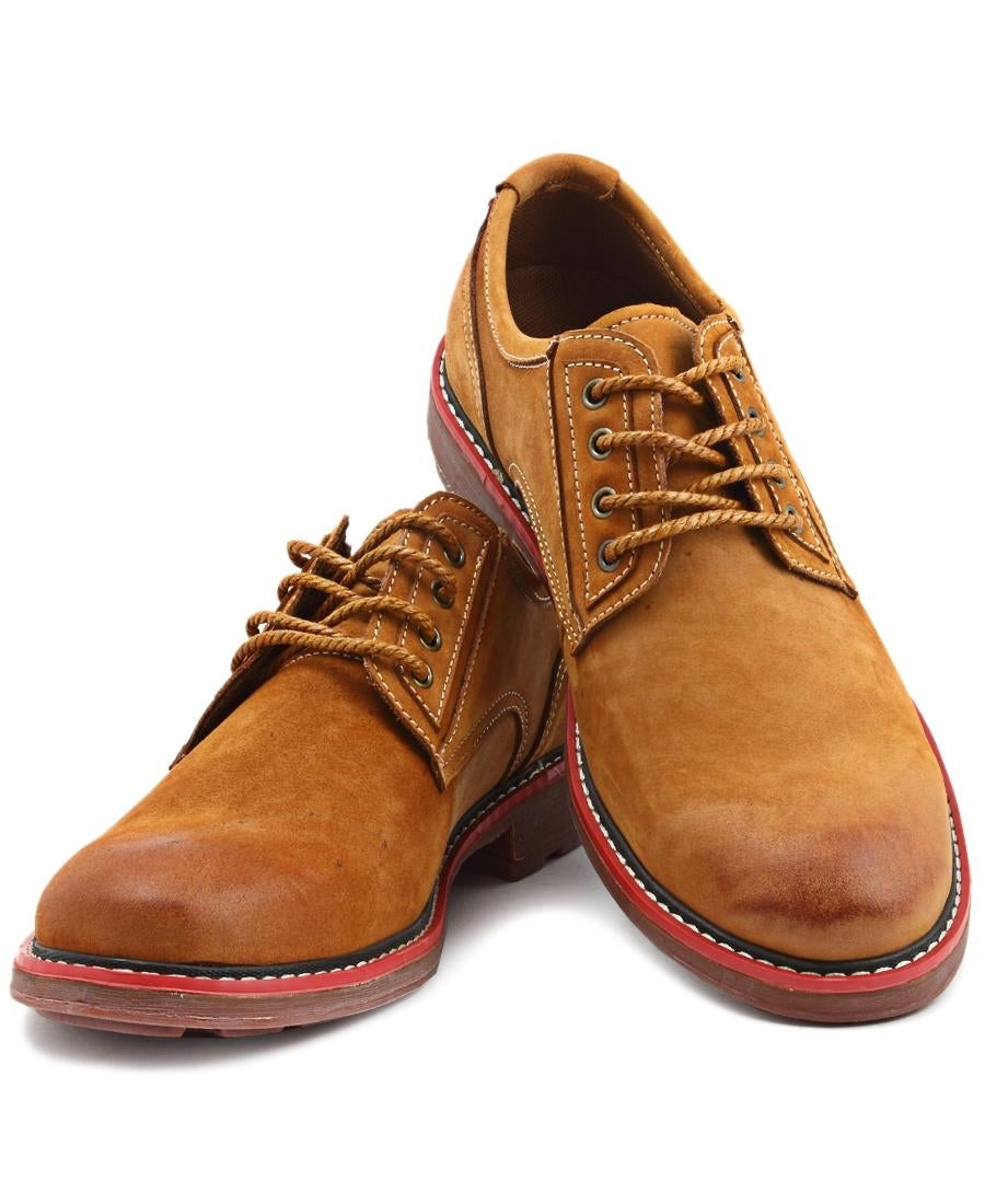 Leather Lace Up - Camel
