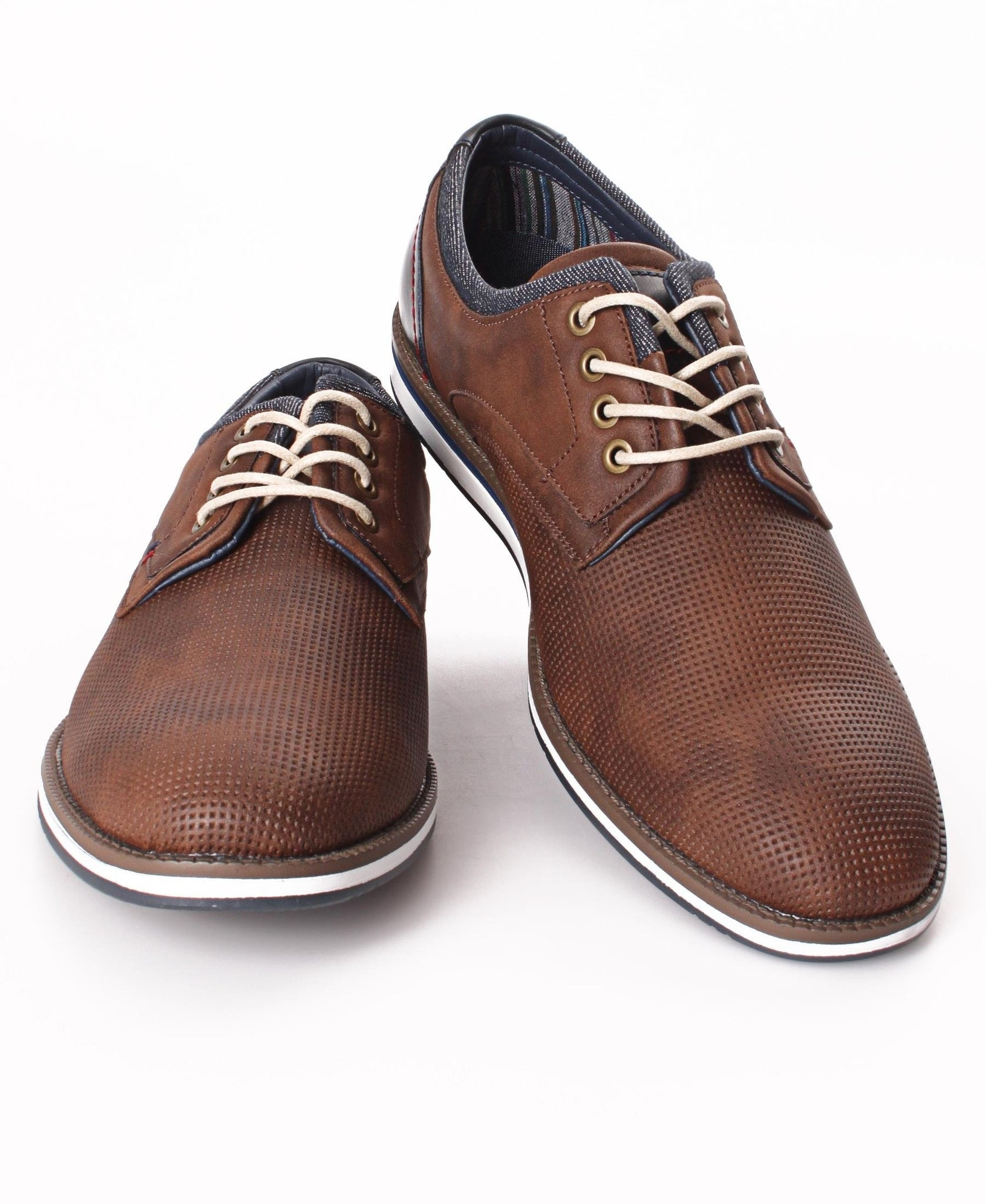 Men's Pin Punch Lace Up - Brown