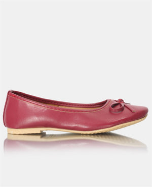 Girls Pumps - Burgundy