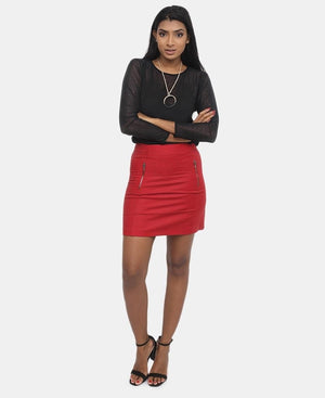 Mini Skirt - Red