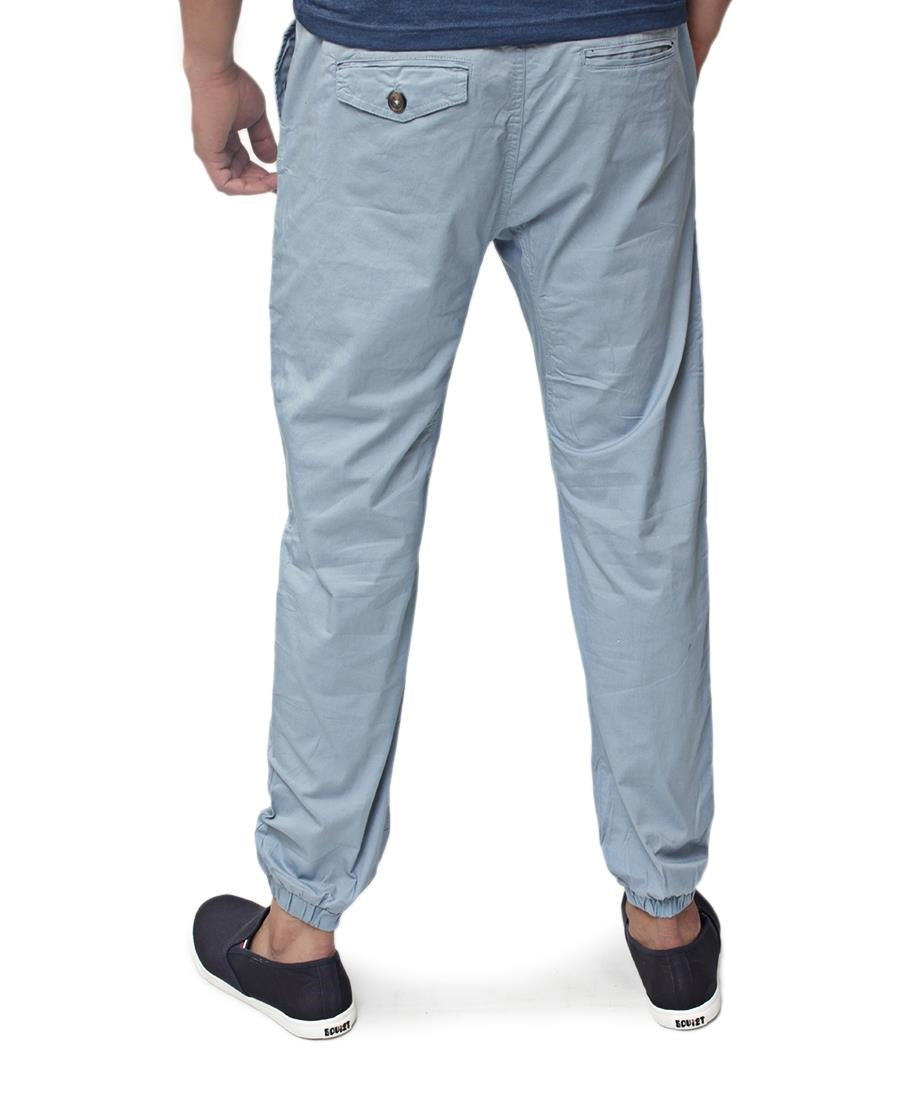 Elastic Ankle Joggers - Blue