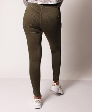 Super Skinny Stretch Jeans - Olive